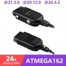 VAG COM 21.3 VAGCOM 20.12 VCDS HEX CAN USB arayüzü VW AUDI Skoda Seat için VAG 20.4 çoklu dil ATMEGA162 + 16V8 + FT232RQ