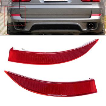 2Pcs Rear Tail Bumper Corner Reflector Cover Decorative False Light Lamp for BMW X5 E70 LCI 2011-2013 63147240997 63147240998 image