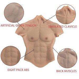 Image 3 - コスプレ偽筋肉胸腹マッチョソフトシリコン人工シミュレーション筋肉女装のための dragqueen トランスジェンダー