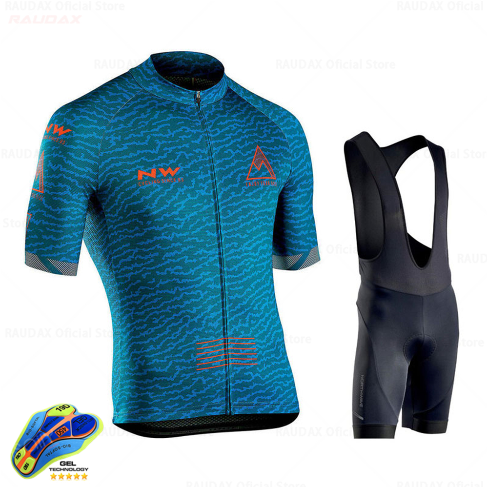 2020 Northwave Summer Men Cycling Jersey Short Pants Set Breathable MTB Bicycle Cycling Clothing Bike Suit Maillot Ropa Ciclismo