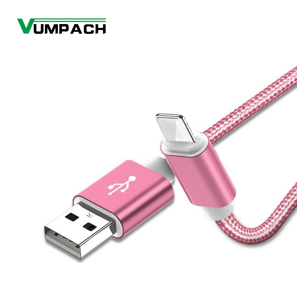 Vumpach USB Cable for iphone 7 Xs MAX 6 plus 7 6s X 5 se ipad 2 mini USB Fast Charging Data Cable cord 8 Pin mobile phone cables