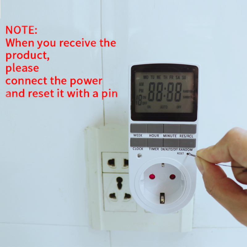 Minuterie numérique électronique interrupteur ue US FR BR prise cuisine minuterie sortie 230V 110V 7 jour 12/24 heure Programmable prise de synchronisation