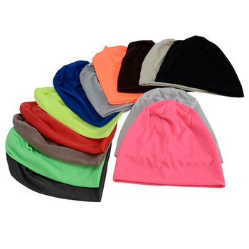 New Hip Hop Hat Korean Version Of The Three-use Candy Color Heap Men And Women Autumn And Winter Pullover Cap Knit Hat Hip-hop korean version of the children s digital caps men and women baby stripes soft along the sunshade hat baseball cap