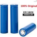 2021 New Original 18650 3.7 v 2000 mah Rechargeable Battery ICR18650 18650 LI-Ion Batteries