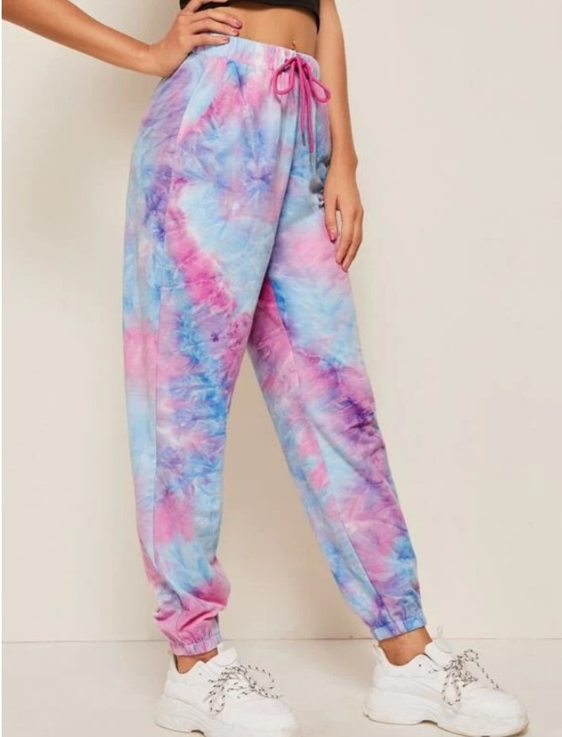Merry Pretty Summer Women Tue-dye Printed Ssweatpants Homewear Causal Dancing Show Hip Hop Trousers Pants