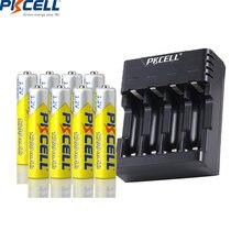 8 шт pkcell aaa 1200 мАч батарея 12 в nimh перезаряжаемые батареи
