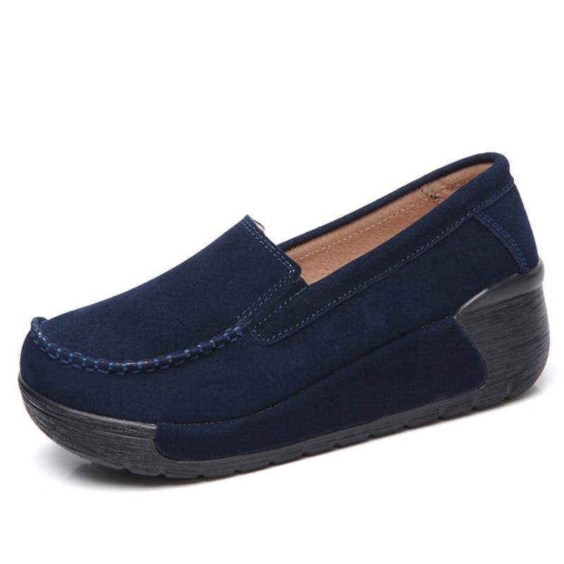 Image 4 - BEYARNEBrand Spring Autumn Loafers Women Flats Fashion Flat Platform Shoes Female Loafers Slip On Womens Ladies ShoesE961Womens Flats   -