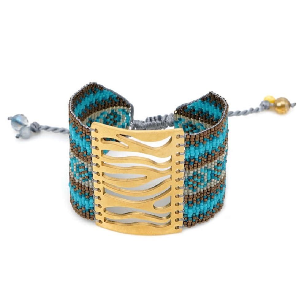 Image 4 - Go2boho MIYUKI Evil Eye Bracelet Jewelry Women Pulseras Mujer 2019 Bohemian Summer Hamsa Hand Cuff Bracelets Handmade Loom WovenCharm Bracelets   -