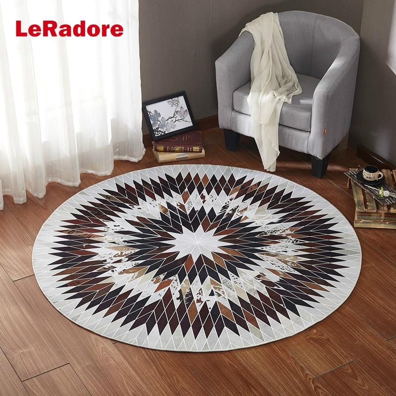 Tapis de salon d'hôtel de Polyester tapis mous décoratifs antidérapants pour les tampons géométriques de plancher de bois franc disponibles dans beaucoup de tailles