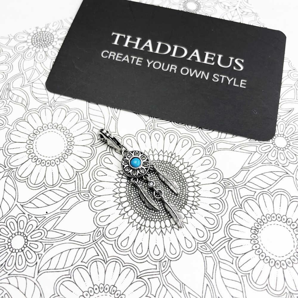 دلاية ساحرة باللون الأزرق من Ethno ، 2020 مجوهرات جديدة من Thomas للنساء هدية عصرية من الفضة الإسترليني عيار 925