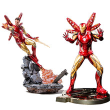 Marvel Avengers 25cm Super Hero Spiderman iron man Action Figures ironman spider man PVC Spider Man Figure Collectible Model Toy(China)