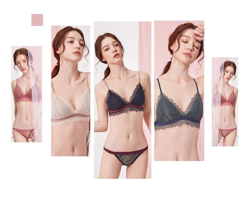 Hcb83f1d6cde34946a4330a97e6fc9f45g Sexy New Ladies Underwear Lace Bra Set Eyelash Lingerie Women's Push Up Bralette Comfortable Bra and Panty Set Luxury Intimates