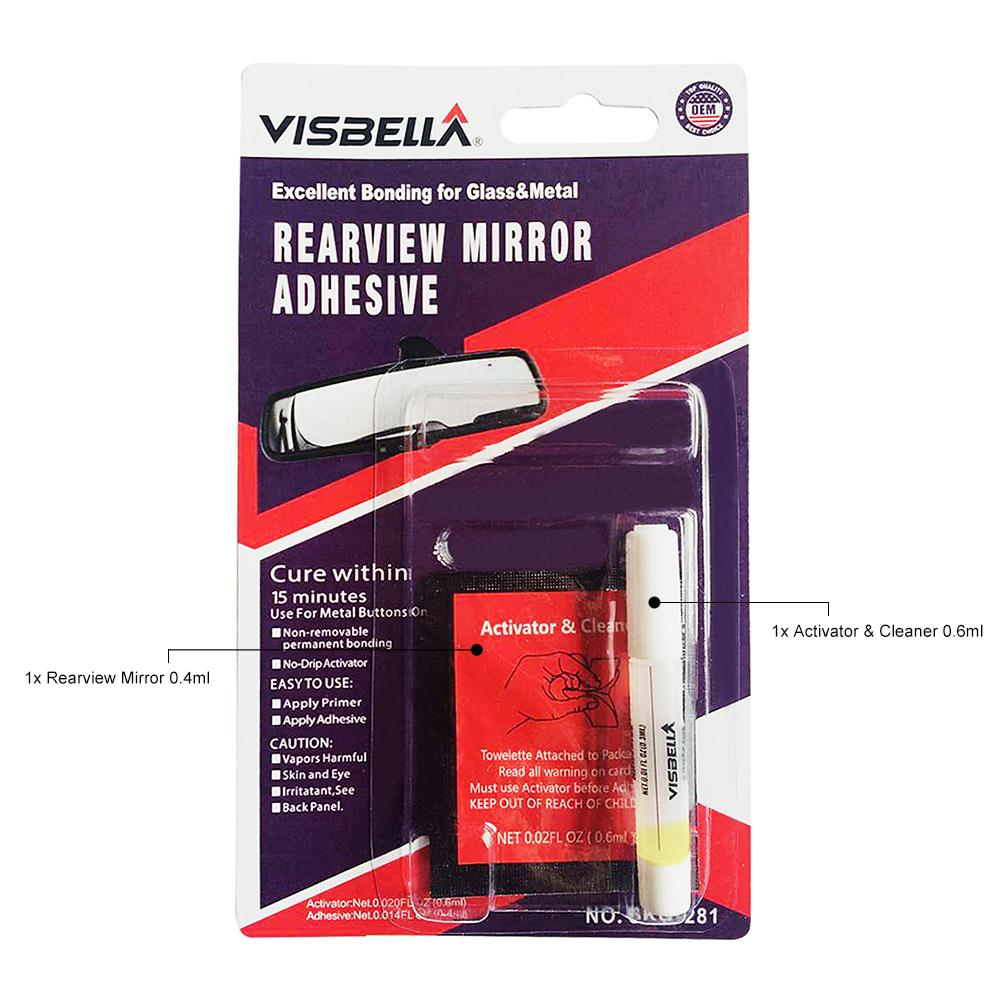 New Coming Car Rearview Mirror Adhesive Professional Strength Permanent Rearview Mirror Adhesive Glue
