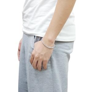 Image 5 - Браслет цепочка из серебра 100% пробы для мальчиков и женщин, Ювелирное Украшение из серебра 925 пробы со змеиным плетением 5 мм 20 см в стиле панк