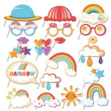 Photobooth-Props Rainbow-Decorations Shower Party-Favors Happy-Birthday-Party Baby Colorful