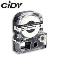 CIDY أسود على واضحة ST12KW LC-4TBW LC-4TBW9 مغلفة الشريط شريط كاسيت ل kingjim/epson الطابعات التسمية