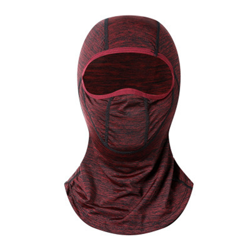 1pc Solid Breathable Summer Cool Balaclava Face Mouth Mask Man Women Unisex Outdoor Cycling Mask Black Mask Mouth Head Cover
