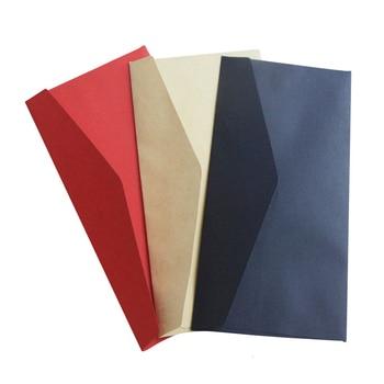 Western style 5th kraft paper / black card / red Daolin Plain plain blank retro plain invitation envelope фото