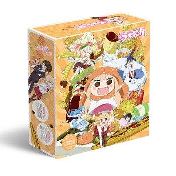 ¡Anime Himouto! Caja de juguete para regalo Umaru-chan incluye póster llavero postales botella pegatina marcapáginas Comic caja para almacenar libros regalo