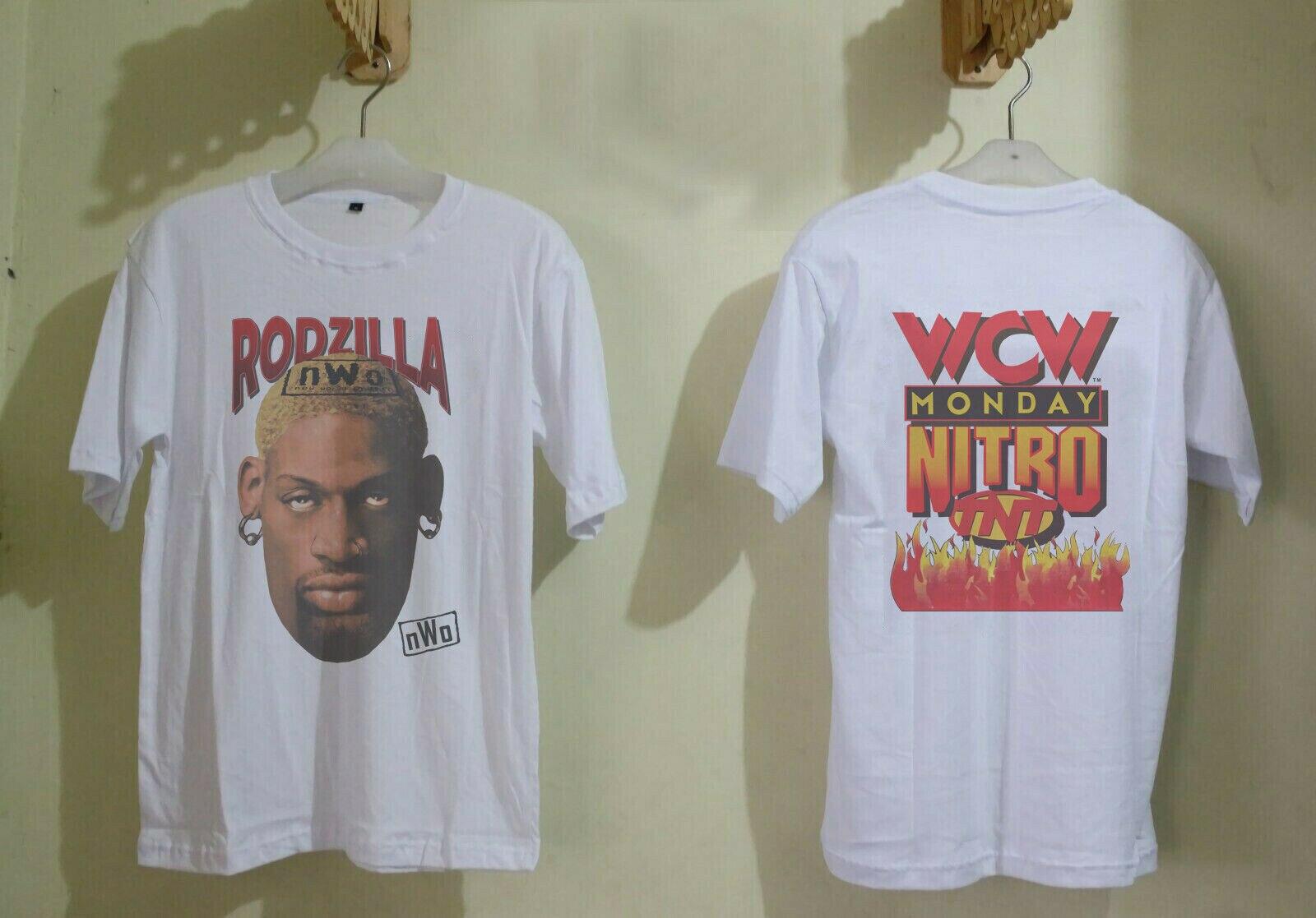 Rare!Vintage Shirt 90'S Dennis Rodman 1997 Rodzilla Chicago-Bulls Size S-3Xl