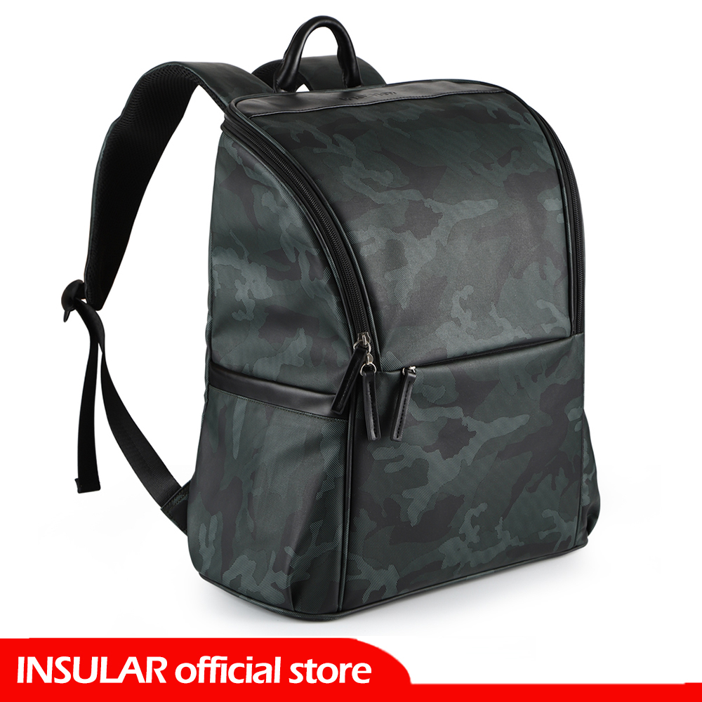 INSULAR Diaper Bag Backpack For Dad Large Waterproof Travel Baby Bag Changing Pad / Stroller Straps / Wet Bag