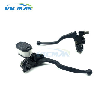 7/8 22mm Universal Black Clutch Lever Brake Master Pump Motorcycle Hydraulic Cylinder Motorcycle Parts Quality Assurance cvo gn125 motorcycle universal black clutch lever brake master cylinder motorcycle hydraulic brake master cylinder handle access