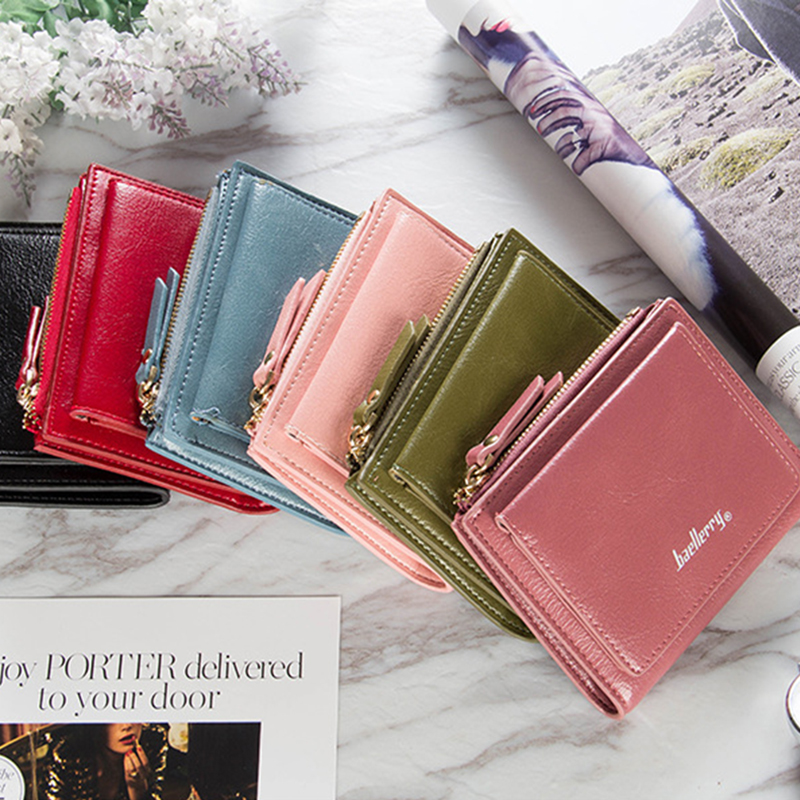 Fashion 2020 Women's Wallet Short Wallets For Women Coin Purse Zipper Clutch Wallet Ladies Card Holder Luxury Small Clutch Bag