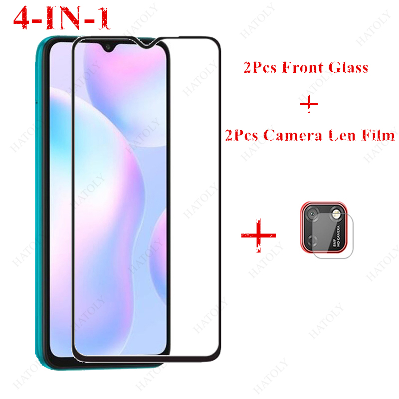 2PCS Glass for <font><b>Xiaomi</b></font> <font><b>Redmi</b></font> 9C Tempered Glass for <font><b>Xiaomi</b></font> <font><b>Redmi</b></font> 9 9A <font><b>Note</b></font> 9S 9 Pro 8 <font><b>7</b></font> 8T 8A 7A Screen Protector <font><b>Camara</b></font> Lens Film image
