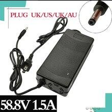 1Pc Laagste Prijs 58.8V1.5A Charger 58.8V 1.5A Elektrische Fiets Lithium Batterij Oplader Voor 14S Lithium Accu gratis Verzending