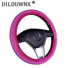 Dilduwnx 37-38cm 1 peça de cristal colorido diamante capa de volante do carro cor, adequado para todos os 37-38cm carros
