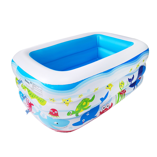 Kids inflatable Pool High Quality Children's Home Use Paddling Pool Large Size Inflatable Square Swimming Pool for baby 1