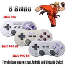8bitdo – manette de jeu SN30 Pro, sans fil, Bluetooth, contrôleur de jeu, Joystick, pour Nintendo Switch et macOS Android