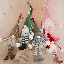 Xmas Gift Pendant Christmas-Decoration Elf Faceless Forest Old-Man