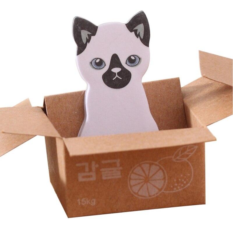 Kawaii милые заметки, этикетки, памятки, Подарочные палочки, канцелярские товары, школьные, Kitty Cat, картонные, офисные наклейки, липкие - Цвет: C