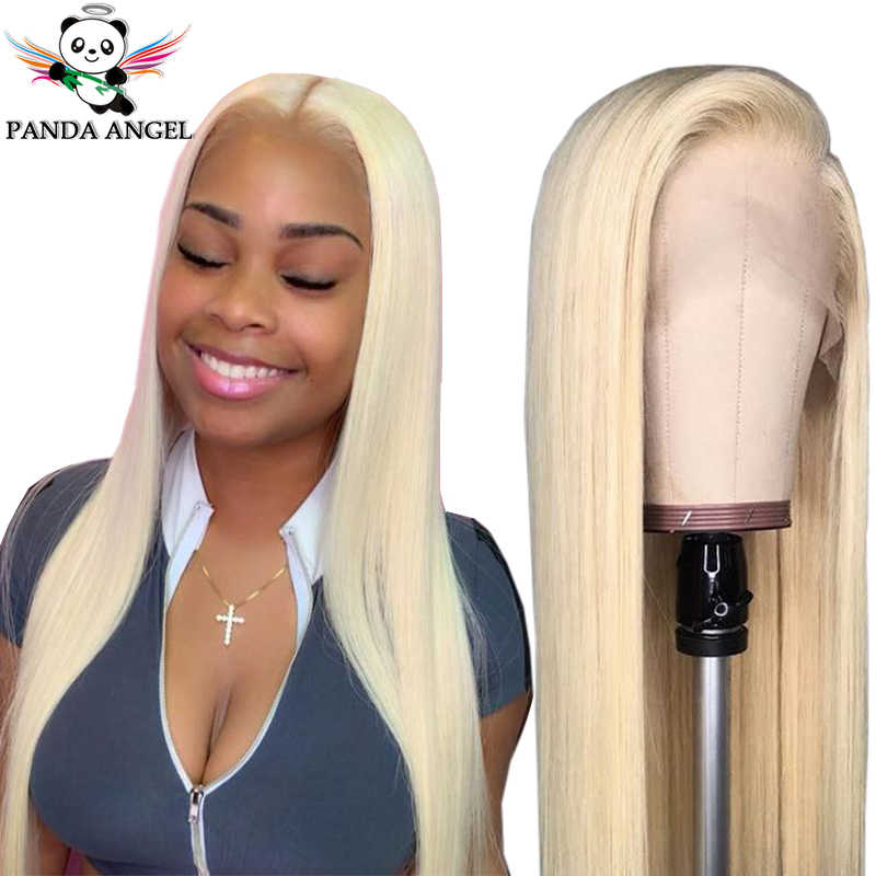 Panda 13*4 Straight Blonde 613 99J #27 30 Lace Front Human Hair Wigs Pre-Plucked Brazilian Remy 150% Density 613 Lace Front Wigs