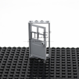 Image 5 - Moc House Home Door Frame 1x4x6 with Gate Leaf 60596 DIY Building Block Bricks Compatible Assembles Particles City Street View