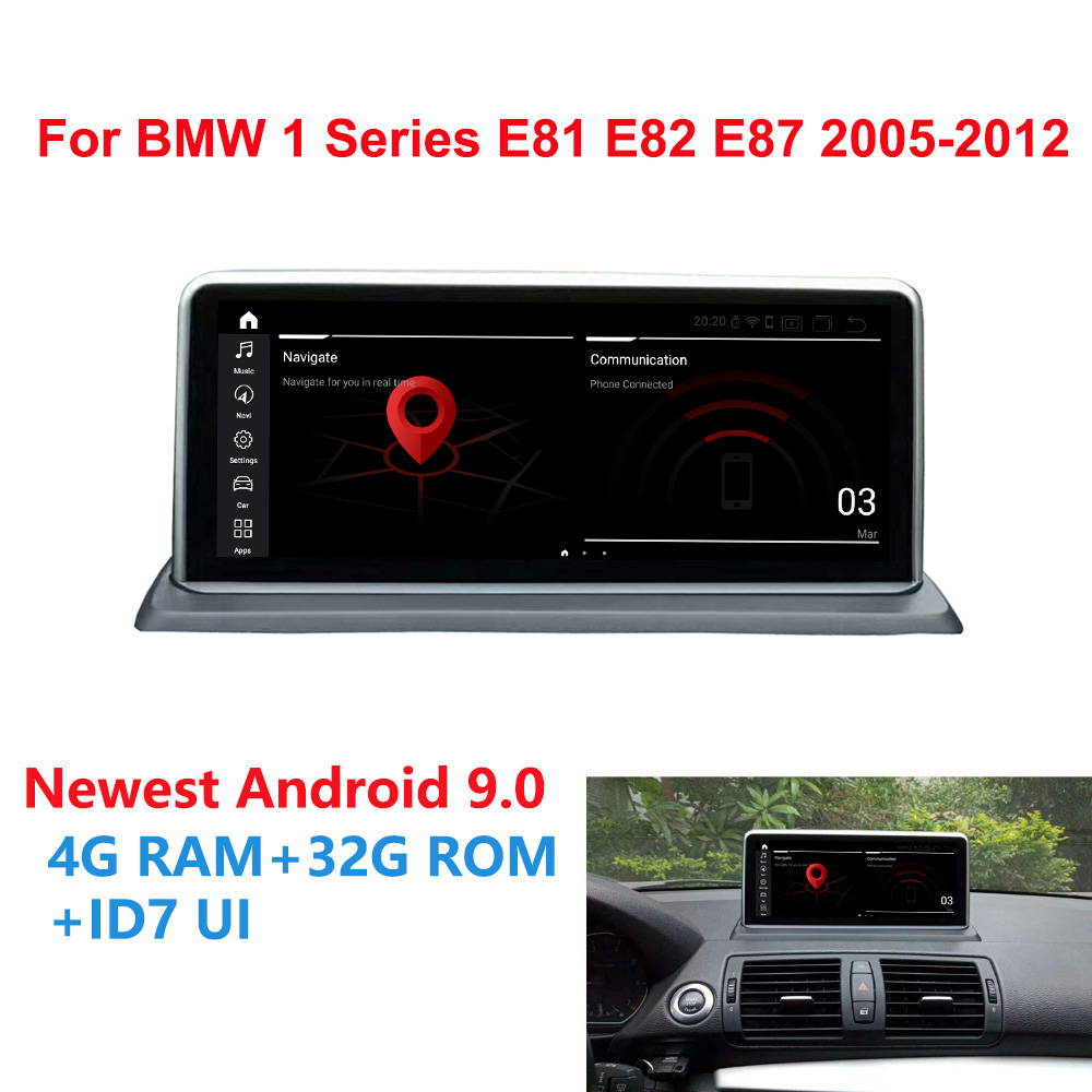 Android 9.0 Auto GPS Navi Radio Stereo Per BMW E81 E82 E87 E88 6-Core CPU 2005 + 4G + 32G RAM IPS Dello Schermo di Tocco di Lettore Multimediale BT