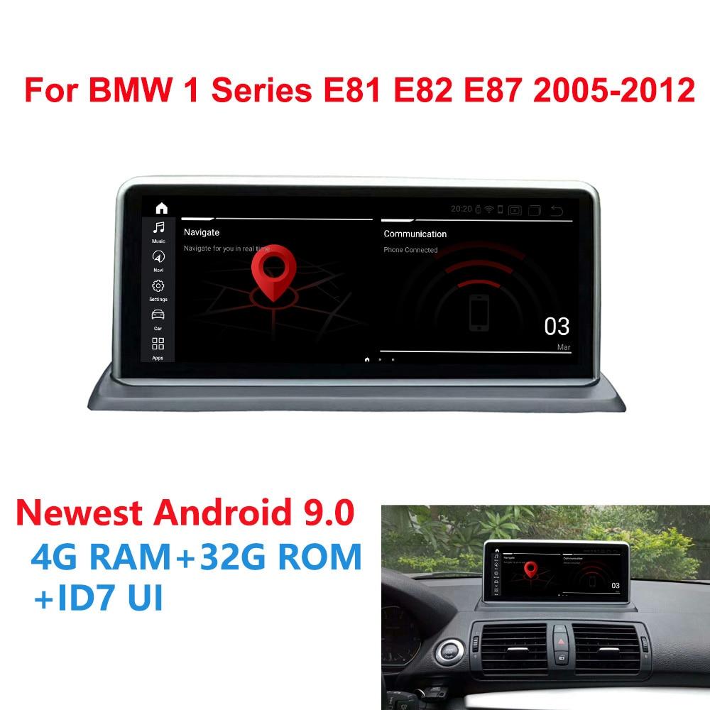 Android 9.0 autoradio GPS Navi stéréo pour BMW E81 E82 E87 E88 6 cœurs CPU 2005 + 4G + 32G RAM IPS lecteur multimédia à écran tactile BT