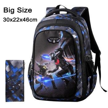 2020 New Children School Bags for Teenagers Boys Girls Big Capacity School Backpack Waterproof Kids Book Bag Travel Backpacks - Color C