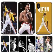 Queen band Rock and roll music Cover for iPhone X XS MAX XR 7 8 6 6S plus 5S SE Clear Soft Silicone Phone Case(China)