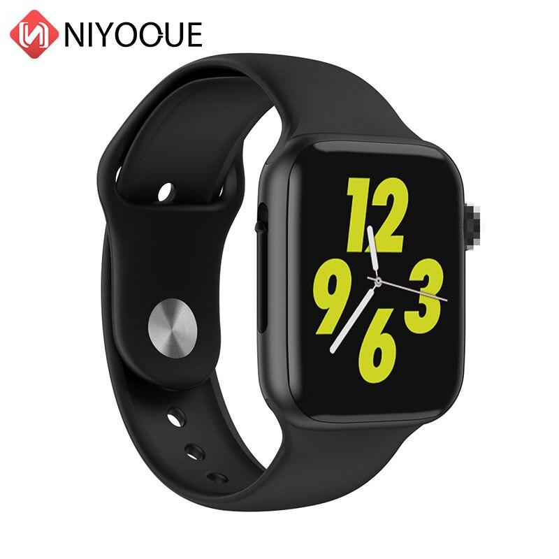 """Tüketici Elektroniği'ten Akıllı Saatler'de W34 1.54 """"Tam Dokunmatik Kadın akıllı saat Erkekler Için Elma Izle Bluetooth Izle Çağrı EKG Monitör Sağlık Tracker Akıllı Bant iwo 10 title="""