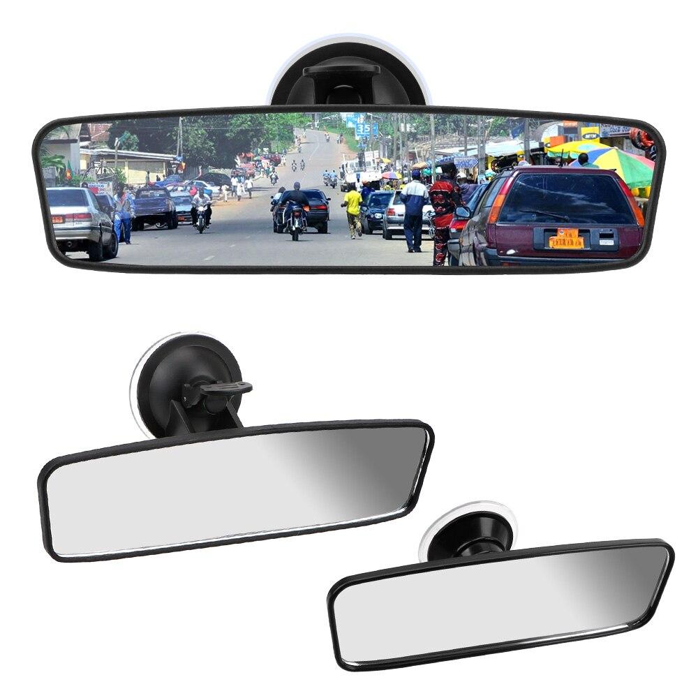 360 ° Вращение широкоугольный Зеркало заднего вида портативное зарядное устройство с присоской автомобиля зеркало заднего вида Универсальн...