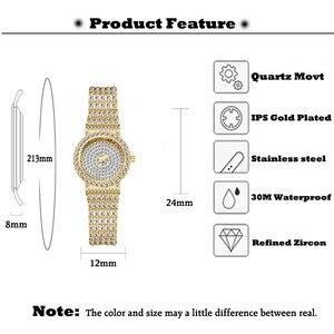 Image 3 - MISSFOX Reloj de pulsera pequeño para mujer, de plata de marca de lujo, 7mm, pulsera ultrafina de diamantes, Xfcs, reloj de pulsera de cuarzo para mujer