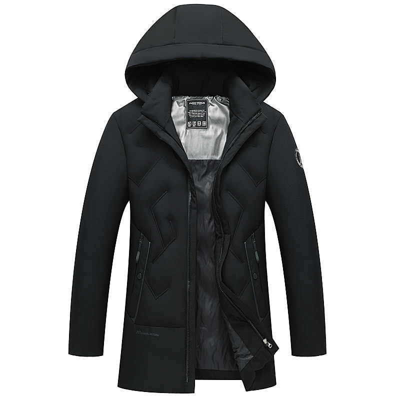 ICPANS su geçirmez kış ceket ceket erkekler kapşonlu fermuarlar sıcak kalın kar Parkas erkek rahat katı düzenli artı boyutu 4XL