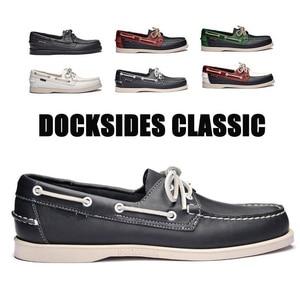 Image 1 - جلد طبيعي chaussure nautique أوم الرجال دوكسيديس دي قارب أحذية المتسكعون الأخفاف أحذية قيادة إنجلترا الشقق 2019A039