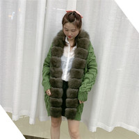 Real Fox Fur Knit Cardigan Ladies Long Sleeved Sweater Fashipn Jacket Ladies New Autumn And Winter Casual Tops One Size