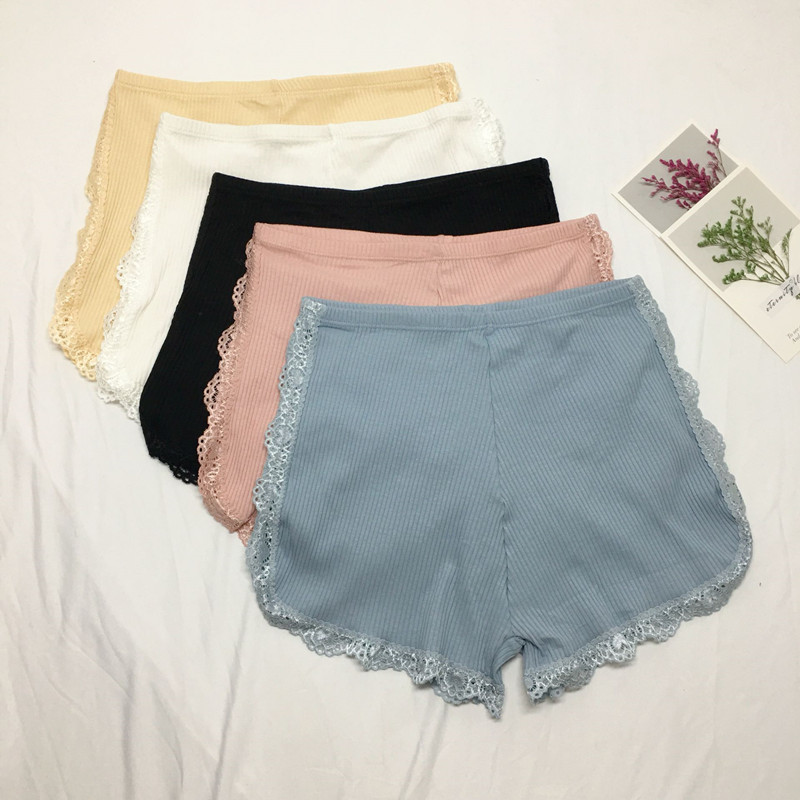 Photo Shoot Net Price Korean-style Lace Border Exposure Base Safety Shorts Casual Fashion Outer Wear Insurance Pants Women's
