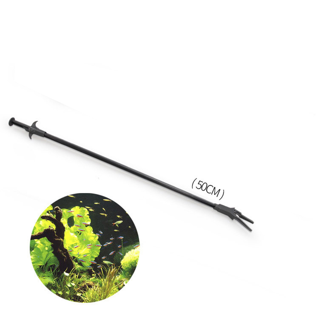 50CM  Cleaning Tool Plastic Pliers Fish Tank Straight Tweezer Forceps Clip Aquarium Cleaning Clamp Plant Pruning Tongs