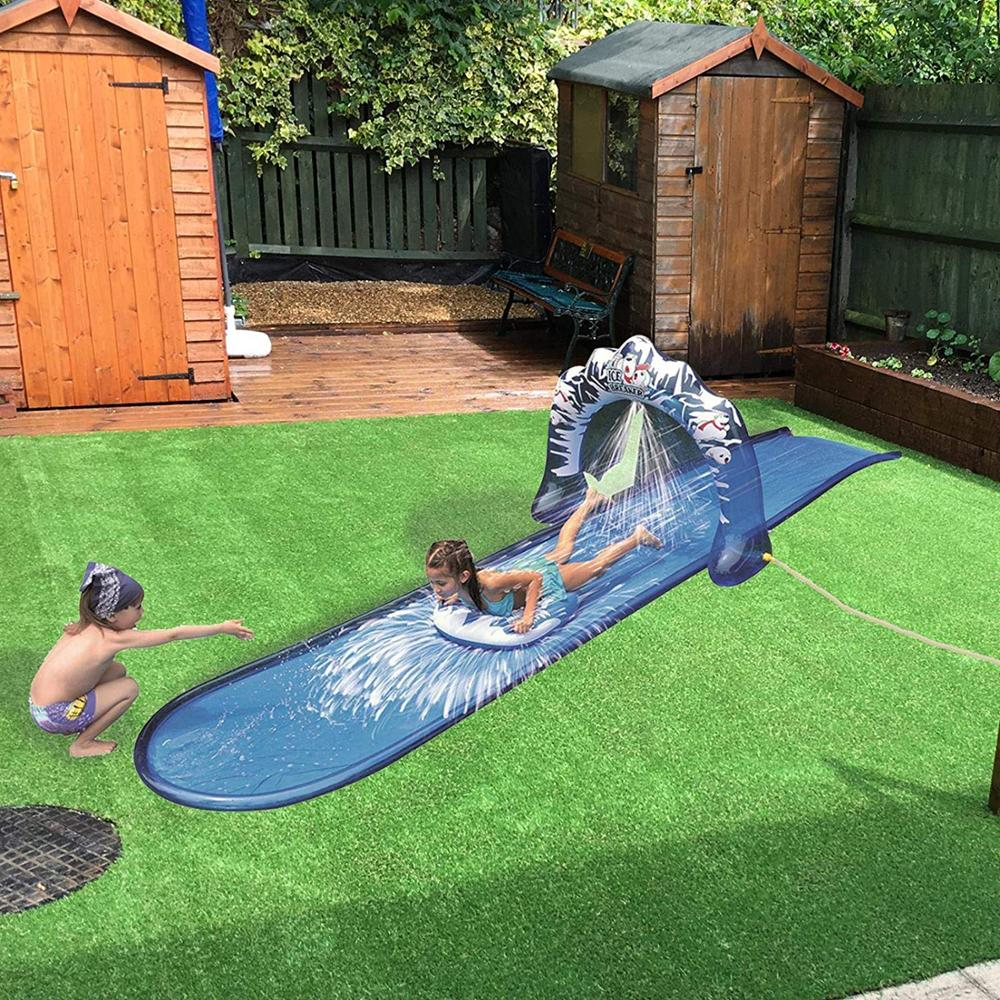 Ice Breaker Water Slide 500x95cm Speed Blast Water Slide Wave Rider With Spray Function 2020 New Summer Fun Toys For Children