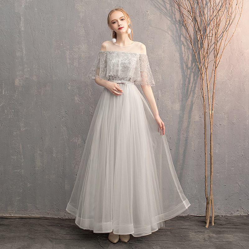 Bridesmaid Clothing Long 2019 New Style Chinese Style Bridesmaid Mission Sisters Skirt Best Friend Formal Dress Winter Banquet L